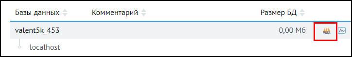 переход в php my admin