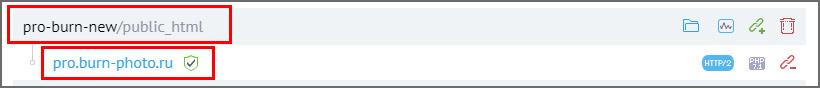 Как выглядит правильная прилинковка домена