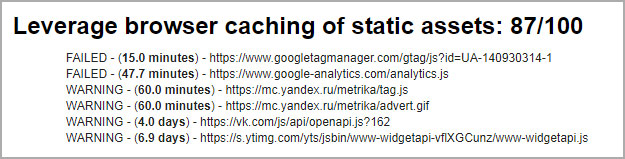 Определение наличия кэша браузера