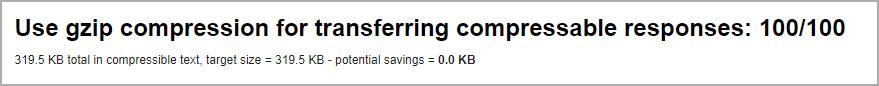 Есть ли сжатие gzip на сервере WordPress