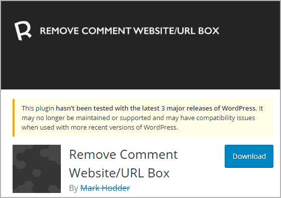 Первый модуль, чтобы убрать поле сайт.